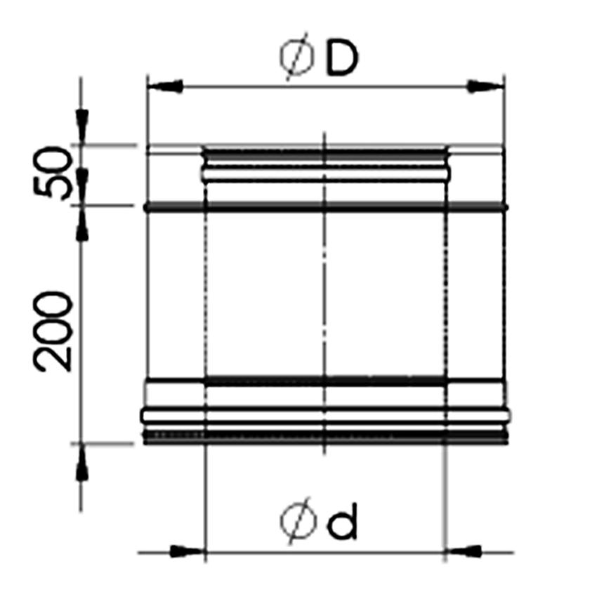 Dubultizolēta dūvada caurule L-0,25 M