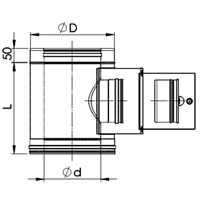 Dubultizolēta dūvada inspekcijas lūka