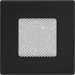 Kamīnu karstā gaisa restīte (melna) 11x11