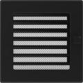 Kamīnu karstā gaisa restīte (melna) 17x17