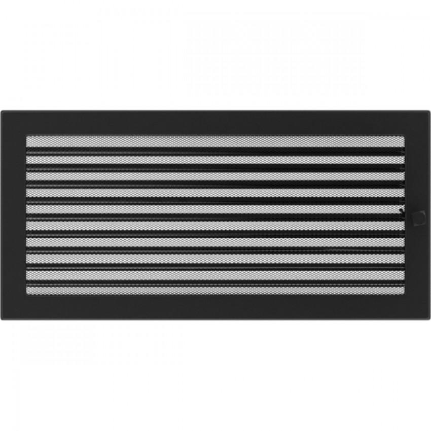 22 x 45 melna ar žalūziju kamīnu gaisa restīte