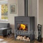 Stoves Romotop Riano 01 W with central heating