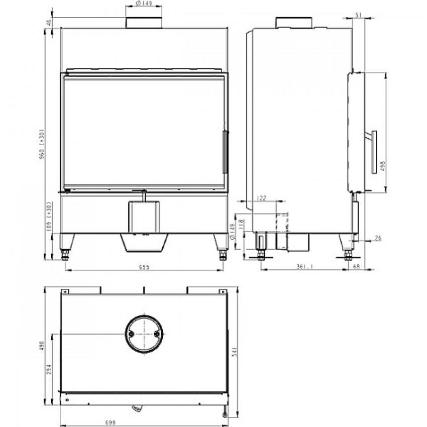 HEAT 70.50.01 ( H2Z 01 ) Romotop kamīni