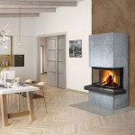 CARA C 02 serpentine - design fireplace with lifting door