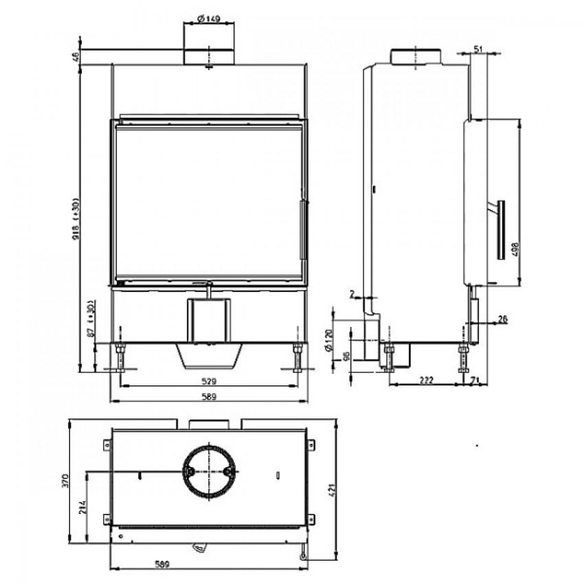 HEAT 59.50.13 ( H2N 13 ) Romotop kamīni