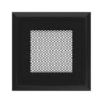 Kamīnu karstā gaisa restīte oskar (melna) 11x11