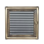 Fireplace hot air grate rustical (jalousie) 22x22