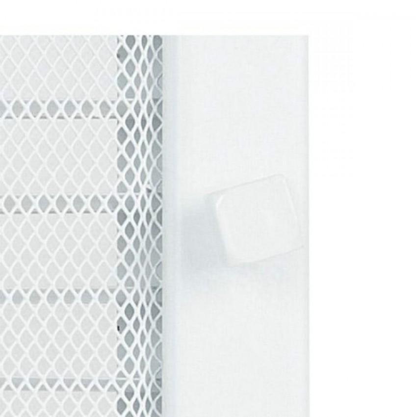 22 x 45 balta ar žalūziju kamīnu gaisa restīte