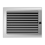 Fireplace hot air grate nickel (jalousie) 22x30