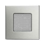 Fireplace hot air grate polished 11x11
