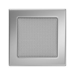 Fireplace hot air grate nickel 17x17