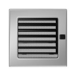 Fireplace hot air grate nickel (jalousie) 17x17