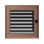 Fireplace hot air grate oskar (copper jalousie) 17x17