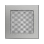 Fireplace hot air grate polished 17x17