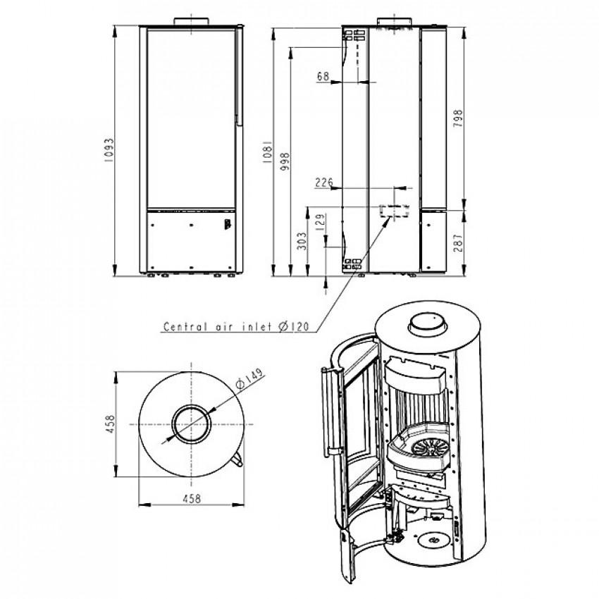 Irun 03 N metāla Romotop krāsniņas