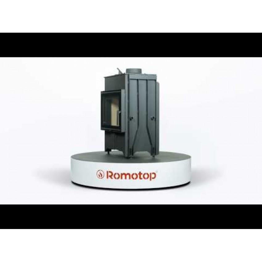 DYNAMIC ( D2M 01) 66.50.01 ar dubultu durvju stiklu Romotop kamīni