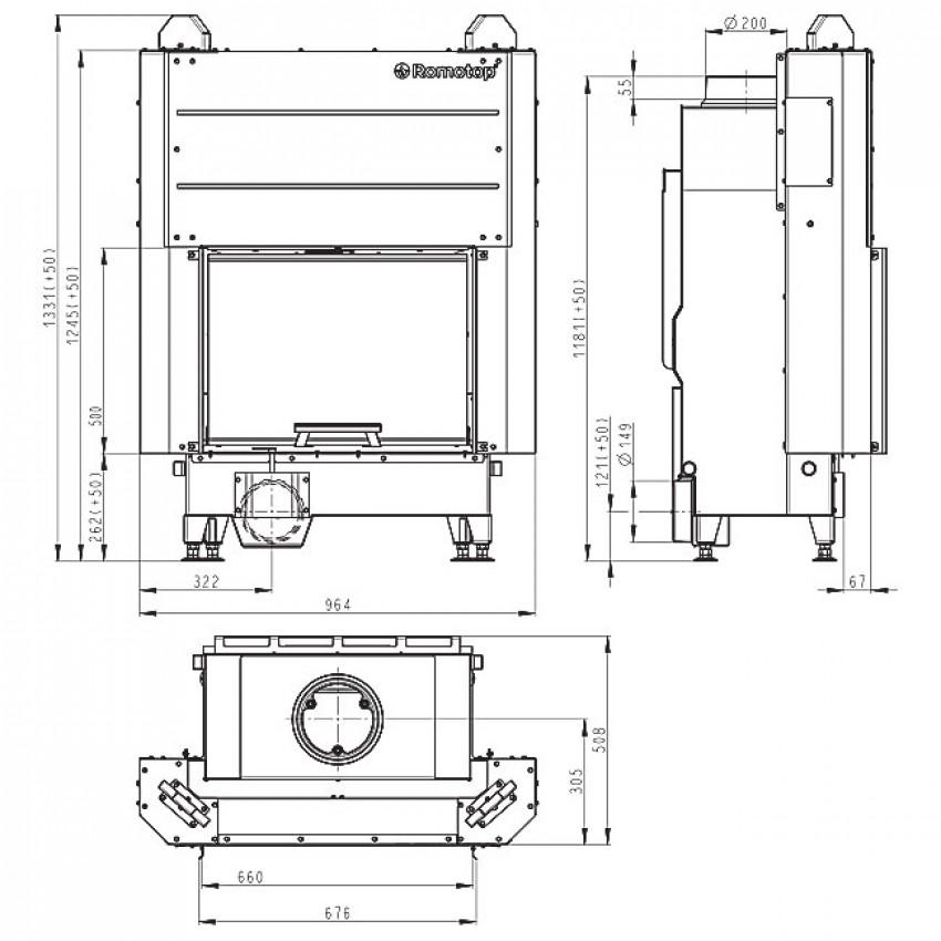 H3LE 01 Romotop kamīni 66.50