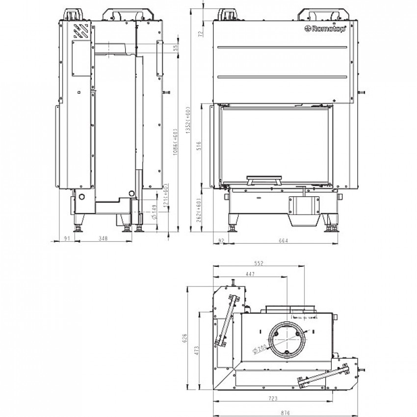 HEAT 65.51.40.01 ( HR3LG 21) Romotop kamīni