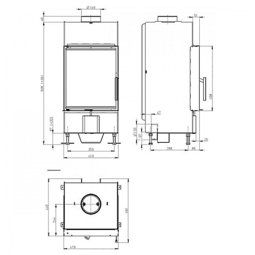 HEAT  42.50.01 (H2Q 01) Romotop kamīni
