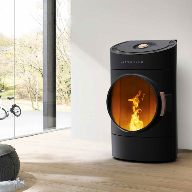 stoves austroflamm clou an excellent design pellet stove. Black Bedroom Furniture Sets. Home Design Ideas