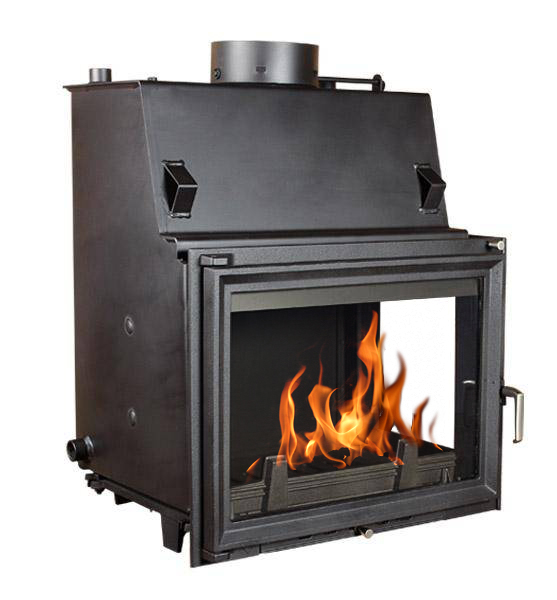 Fireplace central heating kratki insert amelia 24kw with for Central fireplace